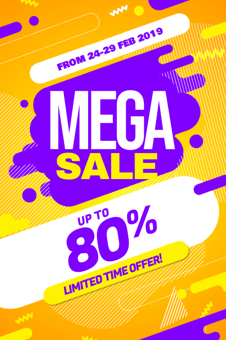 Modern Big Sale Discount Promotion Poster Flyer Template
