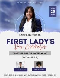Modern Black First Lady's Day Church Flyer Te 传单(美国信函) template