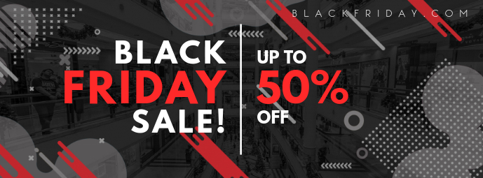 Modern Black Friday Sale Facebook Banner Template