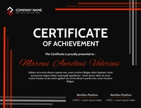modern black white and red certificate of ach Pamflet (VSA Brief) template