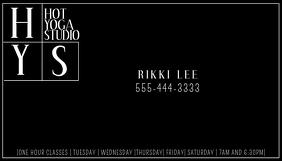 Modern Black White Business Card