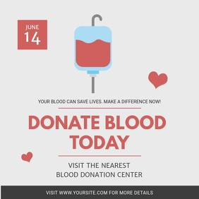 Modern Blood Donation Drive Square Video