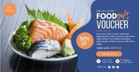 Modern Blue Food Gift Voucher