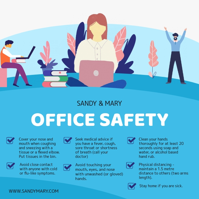 Modern Blue Office Rules and Safety Guideline