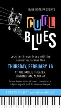 Modern Blues Concert Digital Display