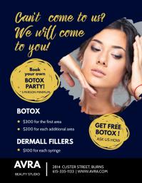 Modern Botox Party Invitation Flyer