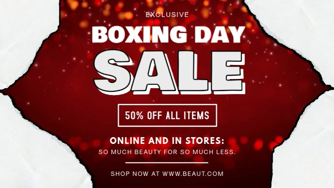Modern Boxing Day Sale on Apparel Video Banner template