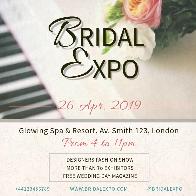 Modern Bridal Expo Video Ad Persegi (1:1) template