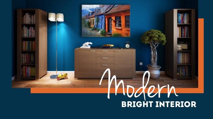 Modern Bright Interior Thumbnail sa YouTube template