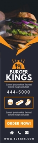 Modern Burger Joint Advertisement Banner Bred skyskraber template