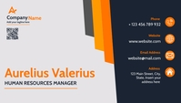 modern business card dark blue orange and lig template