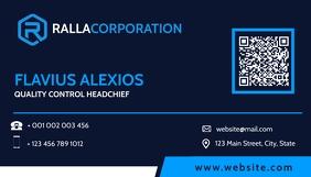 modern business card design template blue sha