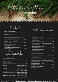 Modern Cafe Christmas Menu Board