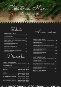 Modern Cafe Christmas Menu Board
