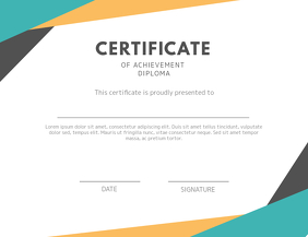 Modern Certificate Card Template Flyer (US Letter)