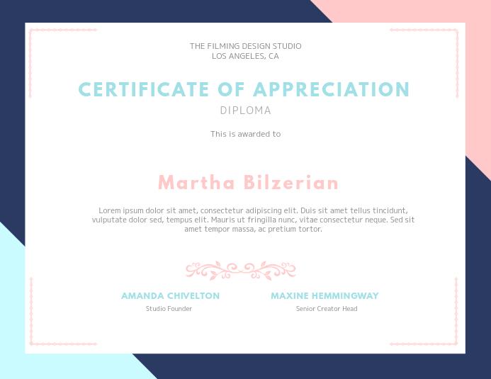 Modern Certificate Card Template