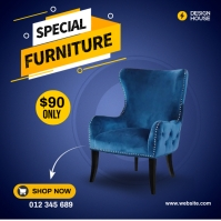 Modern Chair Ads Carré (1:1) template