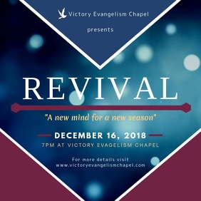 Modern Chapel Revival Event Square Ad