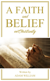 Modern Christian Faith Book Cover ปก Kindle template
