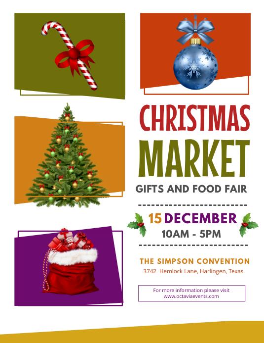 Modern Christmas Fair Flyer Design Template Postermywall