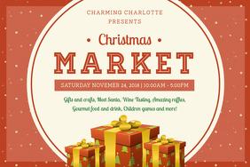 Modern Christmas Market Poster Design