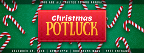Modern Christmas Potluck Invitation Facebook Cover template