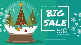 Modern Christmas Retail Facebook Banner Video