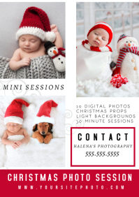 Modern Christmas Session Photography Flyer A4 template