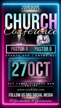 modern church conference ad design template Instagram Story