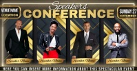 modern church conference ad design template Facebook Shared Image