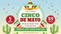 Modern Cinco de Mayo Fiesta Invite Digital Di template