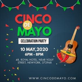 Modern Cinco de Mayo Party Instagram-Beitrag template