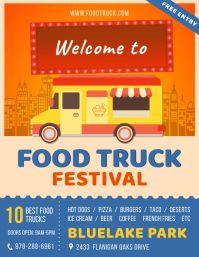 Modern City Food Truck Flyer Template