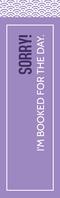 Modern Clean Purple Bookmark Template