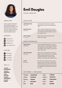 Modern Clean Resume CV Template A4