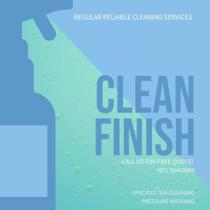 Modern Cleaning Service Video Ad