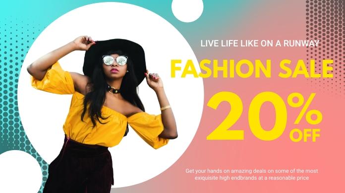 Modern Clothing Line Fashion Sale Twitter Pos
