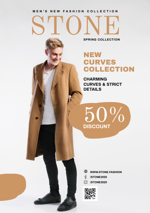 Modern Clothing Store Magazine Advertisement