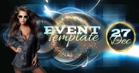 modern club event ad design template รูปภาพที่แบ่งปันบน Facebook