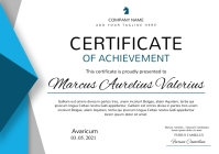 modern colorful certificate of achievement A4 template
