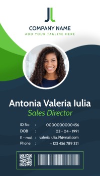 Modern colorful id card corporate template