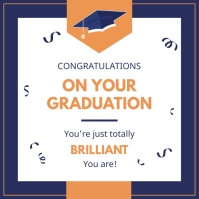 Modern congrats wish for graduation Instagram Post template