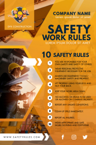 Modern Construction Work Safety Guidelines Po