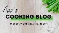 Modern Cooking Blog Vlog Header Template