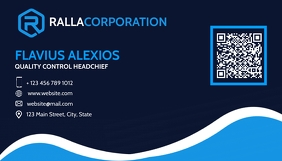 modern corporate blue shades business card template