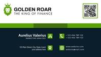 modern corporate business card dark green and template