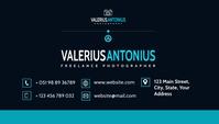 modern corporate business card Kartu Bisnis template