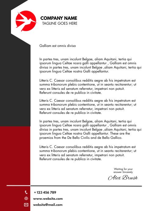 modern corporate letterhead A4 template