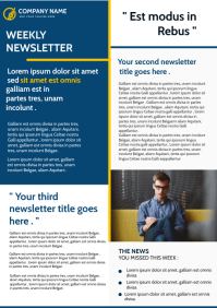 modern corporate newsletter template design A4