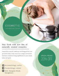 Modern Cosmetology Flyer Pamflet (Letter AS) template